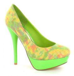 #shoe #lime Slice Of Lime, Stiletto Heels, Peep Toe, Shoes, Color, Fashion, Moda, Zapatos, Shoes Outlet