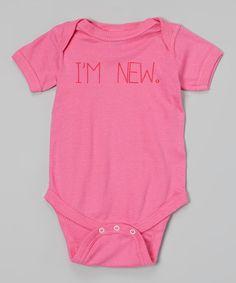 Love this Raspberry 'I'm New' Bodysuit - Infant on #zulily! #zulilyfinds
