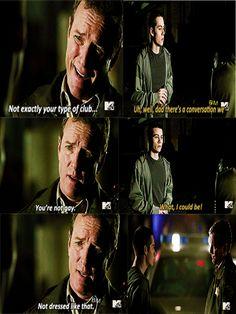 Linden Ashby (Sheriff Stilinski) & Dylan O'Brien (Stiles) - Teen Wolf