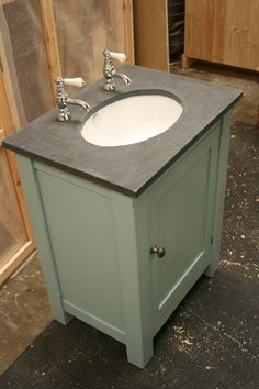 For quality bespoke furniture nationwide, visit Exmoor Furniture today. Slate Bathroom, Bathroom Sink Units, Bespoke Furniture, Handmade Furniture, Farrow And Ball Paint, Handmade Kitchens, Home Decor, Craftsman Furniture, Decoration Home