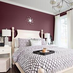 Chambre Hollywood glam - Violet - Mauve - Beige - Blanc cassé - Inspirations - Pratico Pratiques