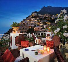 Eat, See, Do: World's Most Beautiful Al Fresco Dinning Spots. Amalfi Coast in Positano.