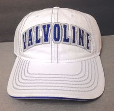 new VALVOLINE OIL HAT White&Blue/Gray Relaxed-Fit Cotton Men/Women Adjustable #TSMGI #BaseballCap