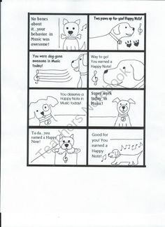 Dog themed Reward cards from Miss Barker's Musical Materials on TeachersNotebook.com (1 page)