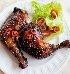 Chicken maryland with a honey soy marinade.