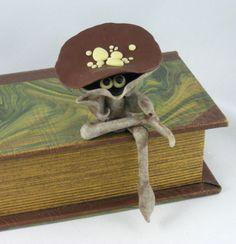 Toadstools Mushrooms with Legs and Eyes created by Jayne Ayre ~ Kismet Clay Designs $18