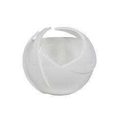 Andromeda White Vase  #vases #modernluxuryvases #luxurypieces #bowl #luxurydecor #homedecor #contemporary #exclusivedesign #interiordesign #design #decorativehome #luxuaryfurniture #anavasconcelos #signaturepieces #numeroliving #sculpture