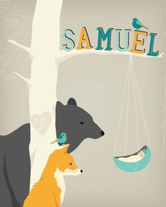 Personalized children's illustration by HenryJamesPaperGoods