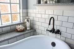 master bath remodel, bathroom ideas, home improvement, The tub faucet feels vintage but is new
