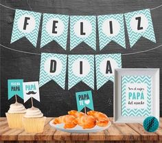 Kit Imprimible Día Del Padre Para Papá Decoracion Sorpresa - $ 250,00 Diy Birthday, Birthday Gifts, Diy And Crafts, Arts And Crafts, Father's Day Diy, Dad Day, Ideas Para Fiestas, Tutti Frutti, Happy Fathers Day