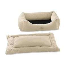 Pet Dreams 2-Piece Plush Ivory Bumper Bed -- Special dog product just for you. See it now! : All pet supplies