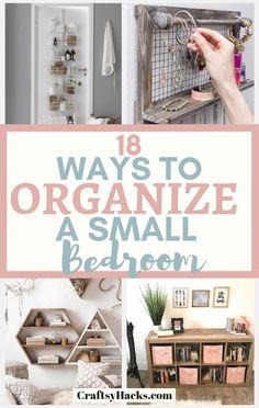 Try these small bedroom organization tips to organize home faster, easier and still keep it elegant. Try room storage hacks will help you to fit all your stuff in one room. - Home Design Organisation Hacks, Diy Organization, Storage Hacks, Organizing Ideas, Small Bedroom Organization, Small Bedroom Storage, Bedroom Small, Guest Bedrooms, Home Design