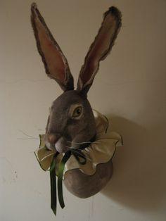 Jackrabbit Hare Soft Sculpture Trophy head. £250.00, via Etsy.