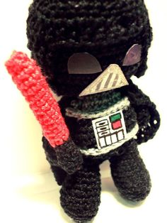 Amigurumi Darth Vader...just need to learn to do this