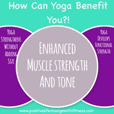 Enhanced Muscle Strength & Tone! Who doesn't love that!! Click for more information on how it could benefit you!! #yoga #accountability #support #motivation