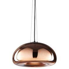 Lámpara de techo de cristal cobrizo D.42 cm CHERRY