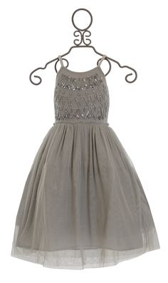 Mimi and Maggie Little Girls Ballet Dress Silver Frost