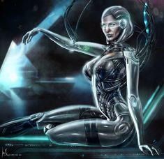Cyberpunk, Future, Cyborg, Futuristic, Convergence- EDI - Mass Effect 3 by *Hidrico on deviantART