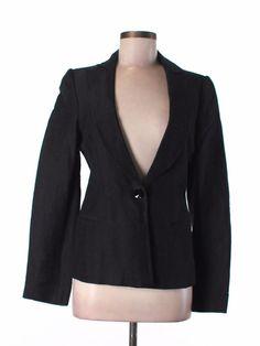 New arrivals! #EMPORIOARMANI Chevron Texture Blazer Jacket black women's Sz 40 6 S Italy  Listed for charity #WWF