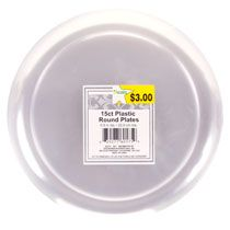Costco Masterpiece 9 Plastic Dinner Plate White 12 Ct