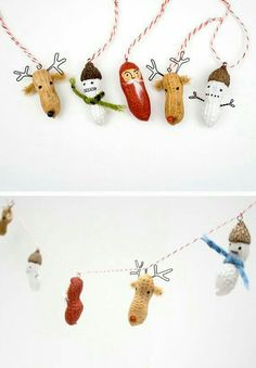 17 HOLIDAY CRAFTS YOU'LL MOST DEFINITELY WANT TO MAKE | DIY Holiday decor...peanut people #christmas