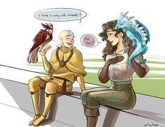 Avatar and Wildmage crossover by Minuiko