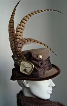 Steampunk with pheasant feathers
