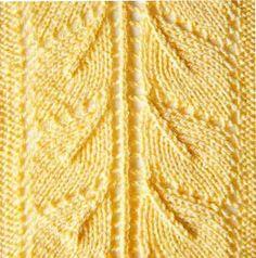 Ажурный узор листья спицами 16