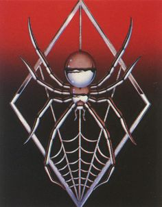 """bulletride-actionwear: """"chromeandlightning: """"Bill Selby """" hate spiders, love chrome… what to do now? Airbrush Art, Aesthetic Themes, Retro Aesthetic, Banners, Pix Art, Art Folder, Cyberpunk, Retro Futuristic, Mode Vintage"""