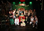 Cast of ABSINTHE with Producer Ross Mollison-ABSINTHE Third Anniversary 4.16.14 (C) Gabe Ginsberg-Vegas Kool