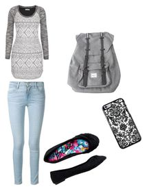 """Untitled #6"" by lexilew290 ❤ liked on Polyvore featuring beauty, maurices, Frame Denim, Aéropostale and Herschel"