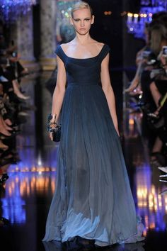 Ombre navy gown. Elie Saab Fall 2014 Couture.