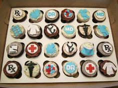 Awesome doctor cupcakes for the office!