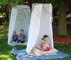 κρεμαστες DIY παιδικες σκηνες για παιδικο δωματιο η κηπο