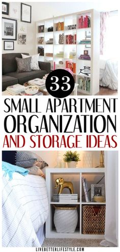 33 Brilliant Apartment Organization Ideas To Share - - Keeping a small-spaced house or an apartment can be quite a challenge. That's why we want to share the best small apartment organization ideas we found! Small Apartment Organization, Apartment Hacks, Diy Apartment Decor, Small Apartment Decorating, Organization Ideas, Bathroom Organization, Small Space Decorating, Studio Apartment Storage, Basement Apartment
