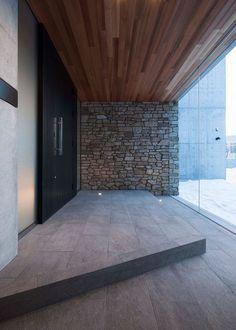 Main Entrance Door, House Entrance, Zen Design, Modern House Design, Japanese Modern House, Home Design Images, Brick Works, Modern Architects, Minimal Home