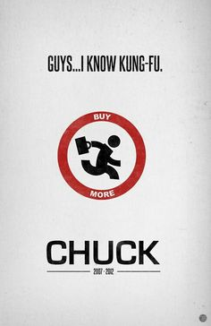 Chuck Minimalist serie poster tv show