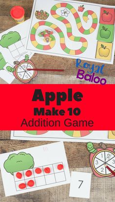 Practice addition 10 facts with this fun apple make 10 addition game! Play the game and work on memorizing addition facts!