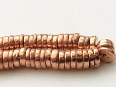 Copper Pyrite Tyre Beads Metallic Copper Pyrite by gemsforjewels