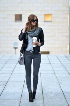 Grey Jeans / Ankle Boots