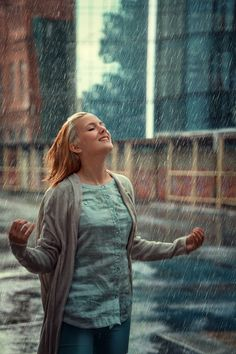 """""""Let the rain fall down, make a brand new ground, I wanna let the rain fall down on me."""""""