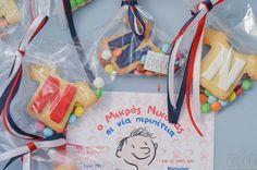 """Μπισκότα Βάπτισης με θέμα τον """"Μικρό Νικόλα"""" Snack Recipes, Snacks, Paper Shopping Bag, Party Time, Vegan, Healthy, Easy, Blog, Party Ideas"""