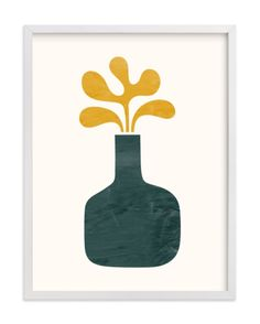 """""""Modern Vase #1"""" - Art Print by Field and Sky in beautiful frame options and a variety of sizes."""