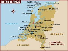 The Netherlands is a constituent country of the Kingdom of the Netherlands, located mainly in North-West Europe and with some islands in the Caribbean. Population: 16,400,000 (2009); Capital: Amsterdam; GDP: 792 billion USD (2007); National anthem: Het Wilhelmus; Currencies: Euro, Netherlands Antillean gulden, Aruban florin, US$; Official language: Dutch, Papiamento, English, & Frisian.