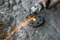 Grinding a wheel on steel ring - Photo - Free Images Grinding, Free Images, Steel, Tools, Rings, Ring, Jewelry Rings, Steel Grades, Appliance