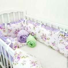 Купить Бортики в кроватку - синий, облака, для детей, для новорожденного…