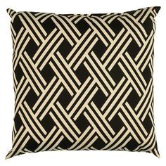 Rizzy Home Indoor/Outdoor Pillow - Trellis Motif
