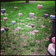 Heart flowers #hypertufa #garden #handmade #farmbrookdesigns