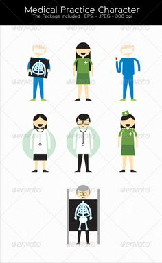 Medical Character — Vector EPS #easy #medical • Available here → https://graphicriver.net/item/medical-character/2794023?ref=pxcr