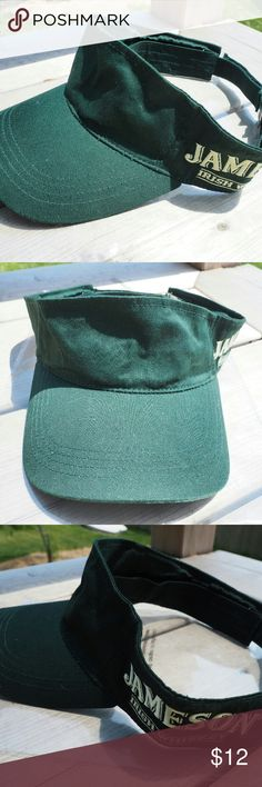 Jameson Irish Whiskey Golf Visor Green Velcro Adjustable Visor  Jameson Irish Whiskey Logo script on the side Accessories Hats
